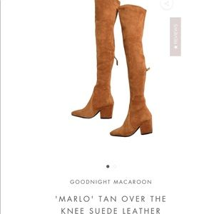 Marlo tan over the knee boots